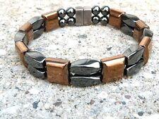 Mens Women Copper n Black 100% Magnetic Healing Bracelet Anklet 2 Row Therapetic