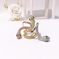 Bague Doré Serpent Reglable Long Fin Dentelle Mode Plaqué Or 18K TRZ 24