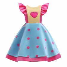 Princess Polka Dots Ruffled Flutter Sleeves Costume Dress for Girls 2-10 Years