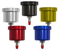 """Brake Fluid / Oil Reservoir Cylinder Cup 7/16"""" Outlet 55mm/80mm Black/Blue/White"""
