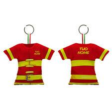 Portachiavi personalizzati con nome Vigile del fuoco maglia tessuto Pompiere