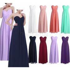 Chiffon Long Dress Maxi Bridesmaid Evening Formal Party Ballgown Wedding Dress