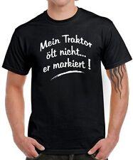 FUN T-SHIRT * MEIN TRAKTOR ölt nicht...* Oldtimer Bauer Landwirt Spruch Sprüche