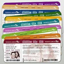 Save the Date Einladungskarten Hochzeit Flugticket Boarding Pass mit Ihrem Bild