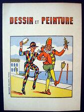 Vintage Imagerie Pellerin d'Epinal Dessin et Peinture Coloring Book Inv1314