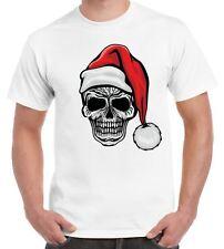 Santa Skull Skeleton Hipster Christmas Men's T-Shirt