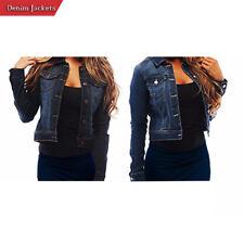 Ladies Soft Denim Full Sleeve Button Jacket Vest Women Casual Jean Waistcoat Top