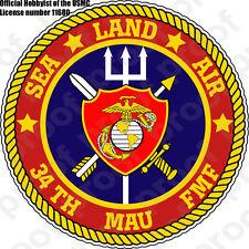 STICKER USMC 34TH MAU Marine Amphibious Unit