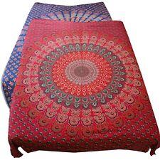 Tagesdecke Bettüberwurf 100% Baumwolle 210x230cm TuchTischdecke Mandala India
