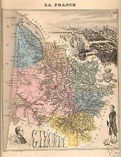Carte du département de la GIRONDE ; 1881