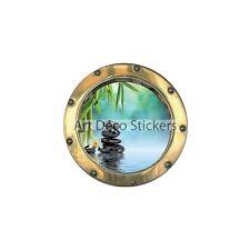 Adesivo inganna l'occhio Sassi fiore di Bambù ref:oblò 1438