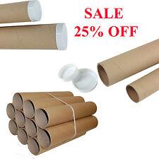 Imballaggio postali TUBI in cartone A1 A3 A4 Poster Carta extra forte e plastica CAPS