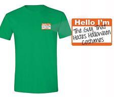 Hello Tag T-shirt Pumpkin Halloween Costume Jack O Lantern Witch Skull Tshirt
