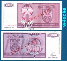 Bosnia/Bosnia 5000 Dinara 1992 SPECIMEN UNC p.138 S