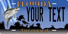 Florida Save Shark Personalized Custom License Plate Car Motorcycle Bike