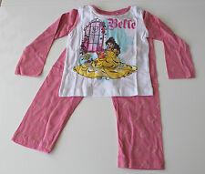 Neuf Vêtements de nuit Lot pyjamas fille Disney Princess blanc rose 92 104 116
