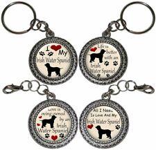 Irish Water Spaniel Dog Key Ring Key Chain Purse Charm Zipper Pull #2