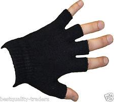 Unisex senza dita caldo STRETCH BLACK MAGIC Guanti