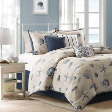 Beautiful Modern Beach Coral Shore Ocean Seashell Nautical Blue Comforter Set