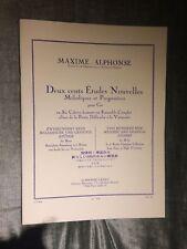 Maxime Alphonse 200 études nouvelles mélodiques progressives pour cor Leduc