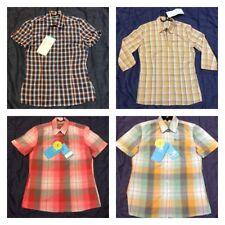 Da Donna Odlo manica corta verificare piccole Sportivo Donna Top Shirt Vento UV 30+