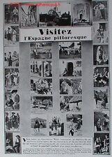 PUBLICITE VISITEZ ESPAGNE SEVILLE GALICE ANDALOUSIE TOLEDE ALICANTE 1931 ADVERT