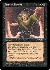 Feast or Famine B X4 EX/NM Alliances MTG Magic Cards Black