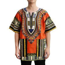 Unisex afrikanische Drucke Kleid Baumwolle Dashiki Shirt ethnischen Kaftan