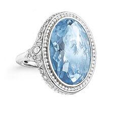 Thomas Sabo Ring hellblau und Zirkonia weiß TR2023-644-1