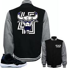 "Jacket to match Air Jordan Retro 11 Space Jam sneakers ""Bull 45"" Black Jacket"