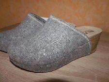 Pantofole ciabatte/Zoccolo Feltro di lana naturale m. Strass Stella molti Tgl