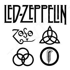 "8"" Led Zeppelin Vinilo Autoadhesivo Con Ventana De Coche Portátil Rock n 'Roll"