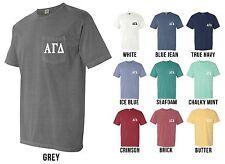Alpha Gamma Delta Sorority Letters COMFORT COLORS POCKET Shirt AGD