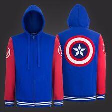 Captain America Shield Varsity Hoodie Adult Zip Up Hoodie