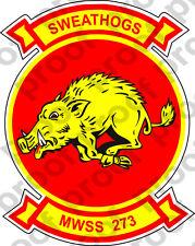 STICKER USMC UNIT MWSS  273 NEW