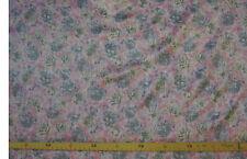 Satin (€11/m²) 0,5m Crash graue Blümchen auf rosa 1,35m breit
