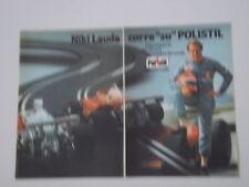 advertising Pubblicità 1977 POLISTIL e NIKI LAUDA