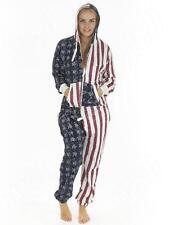 Unisex Ladies Mens Onesies Jumpsuits Playsuit US Flag, Stars & Stripes Print