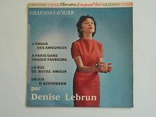 DENISE LEBRUN Lorgue des amoureux CHR 1