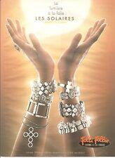 PUBLICITE ADVERT 2003 FOLLI FOLLIE La Lumière à la Folie les Solaires, Bracelets