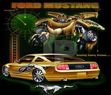 Children's Ford Mustang Black Transformer Cotton T-Shirt Size - Medium