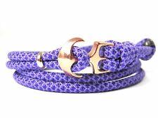 Ancla armband-paracord-verstellbar-wickelarmband-lavender Púrpura diamantes