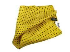 Pochette da taschino bimbo seta fazzoletto giallo a pois paggetto bambino