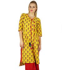 Bimba Ethnic Kurta Kurti Traditional Printed Asymmetrical Cotton Tunic-E26A