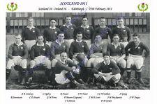 La Scozia 1911 (V dell' Irlanda, 25 febbraio) squadra di rugby Fotografia