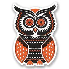 2 x Owl Vinyl Sticker Laptop Travel Luggage Car #5475