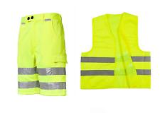 Ensemble warnschutz arbeitsshorts + gilet jaune S-4XL Pantalon de haute