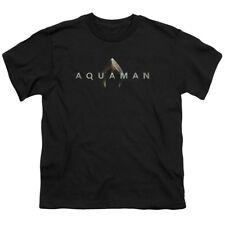New Authentic DC Comics Aquaman Movie Logo Symbol Boys T-shirt Youth S M L X top