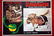 EMANUELLE STYLE B SEXY SYLVIA KRISTEL 1973 RARE EXYU MOVIE POSTER