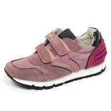 E1698 sneaker bimba rosa antico VOILE BLANCHE scarpe strappo shoe kid girl